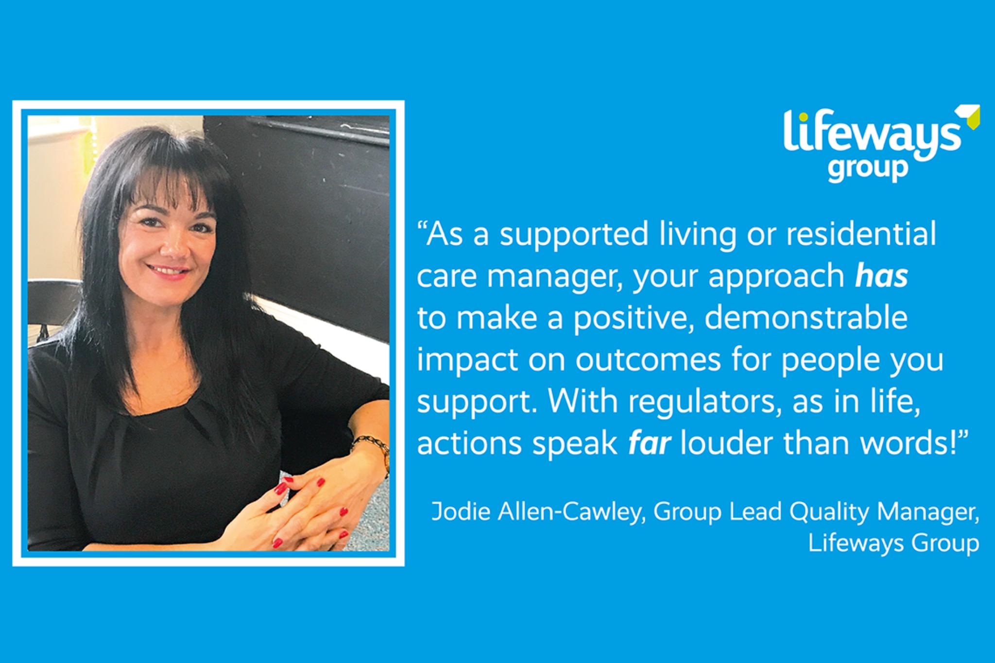 Jodie Allen Cawley Lifeways good to outstanding managers network regulator cqc care inspectorate