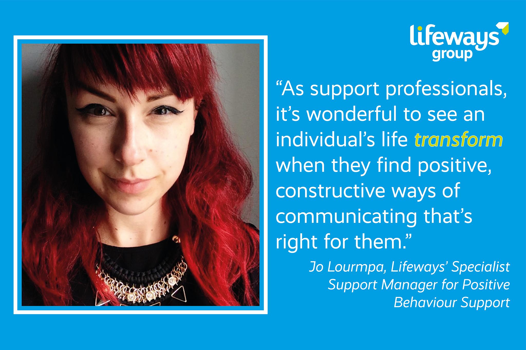 jo lourmpa lifeways positive behaviour support
