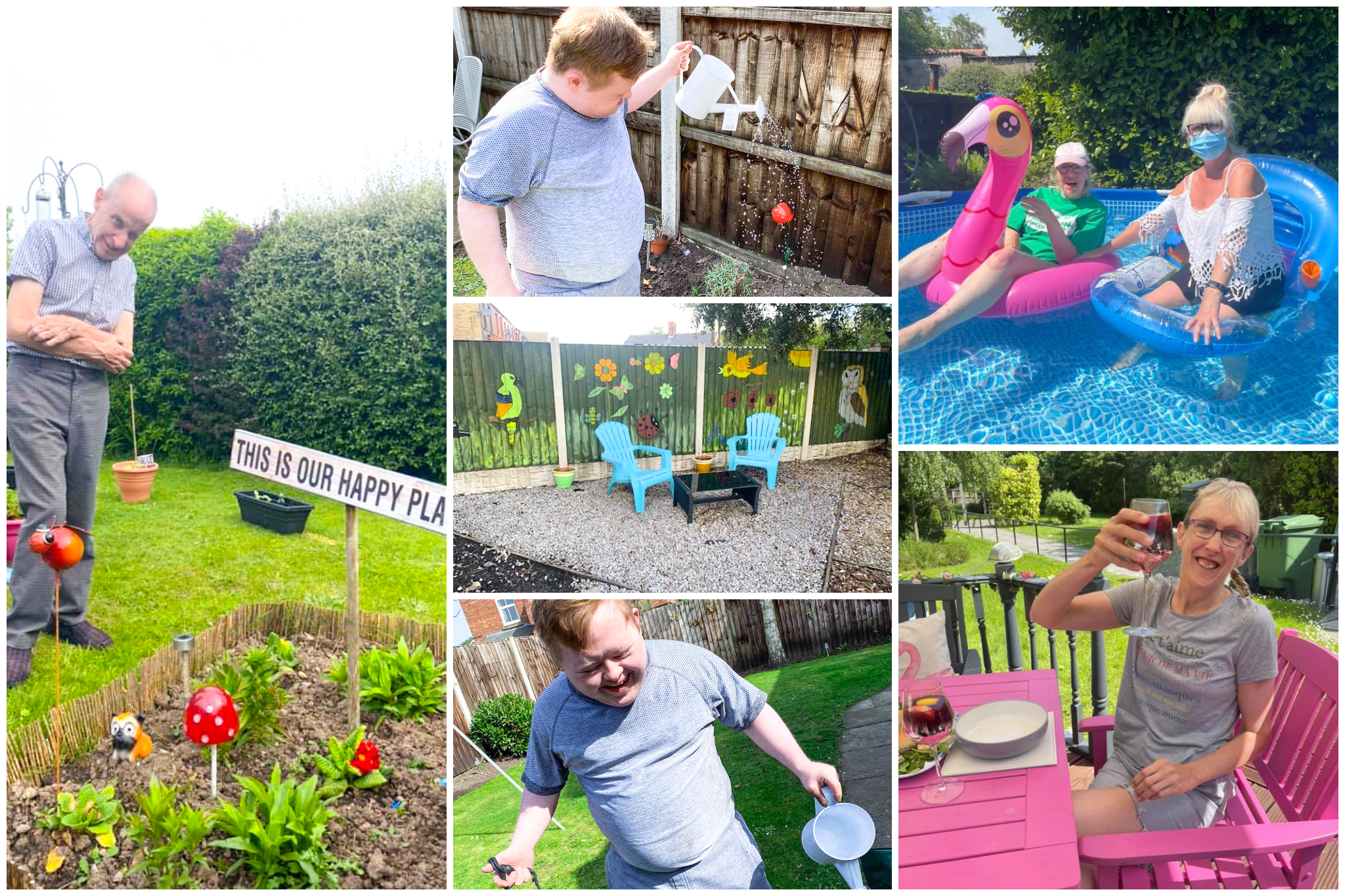 Throwing pool parties, creating art and decorations, and growing fruits and vegetables are just some of the ways people we support keep active in their gardens.