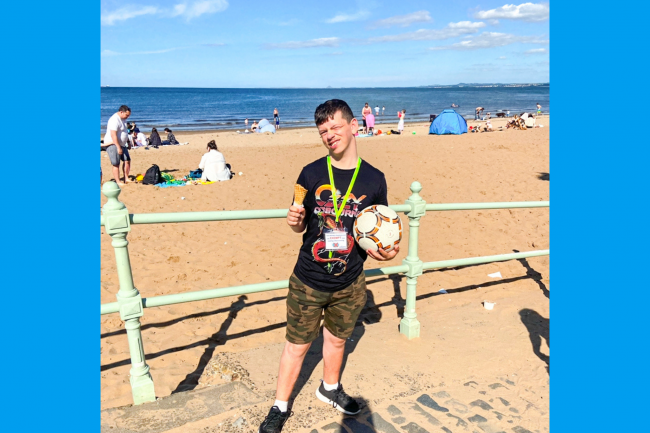 James at the seaside